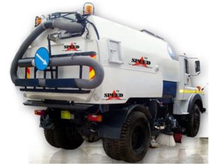 Truck mounted vaccum speeping machine