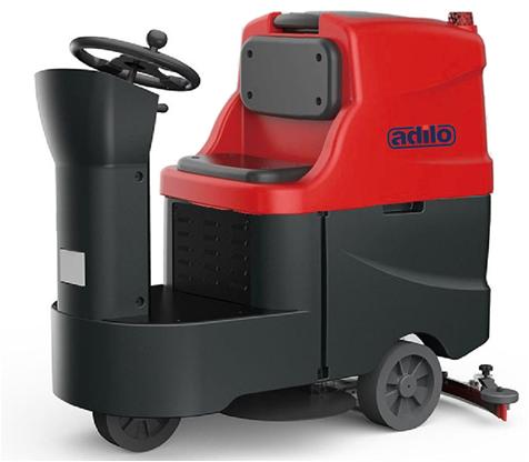 Ride-on Scrubber Dryer Machine