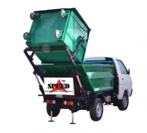 dumper placer with Bin Lifted