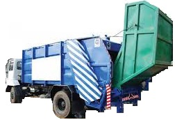 Garbage Compactor with bin lifter